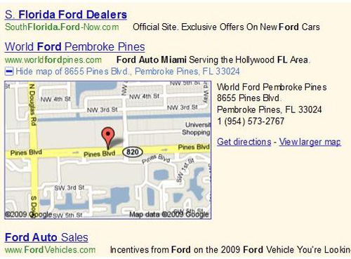 Location Extension Ford